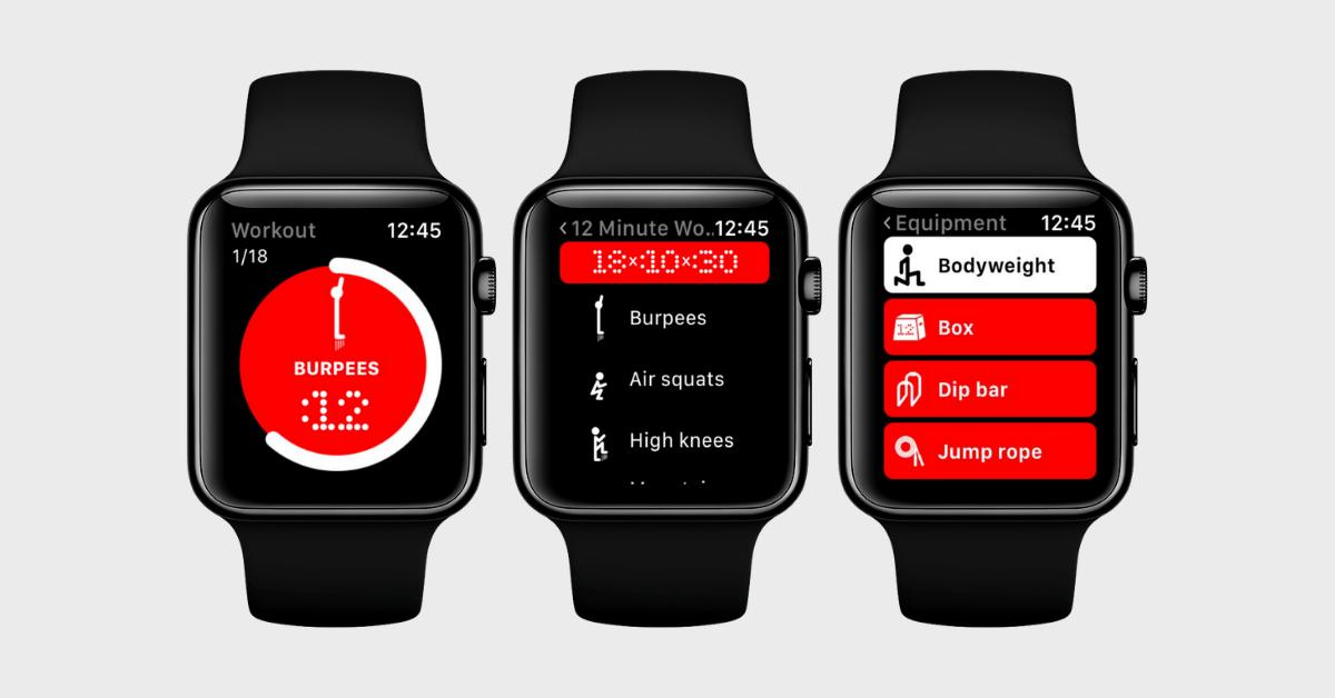 12 Minute Athlete HIIT App Apple Watch